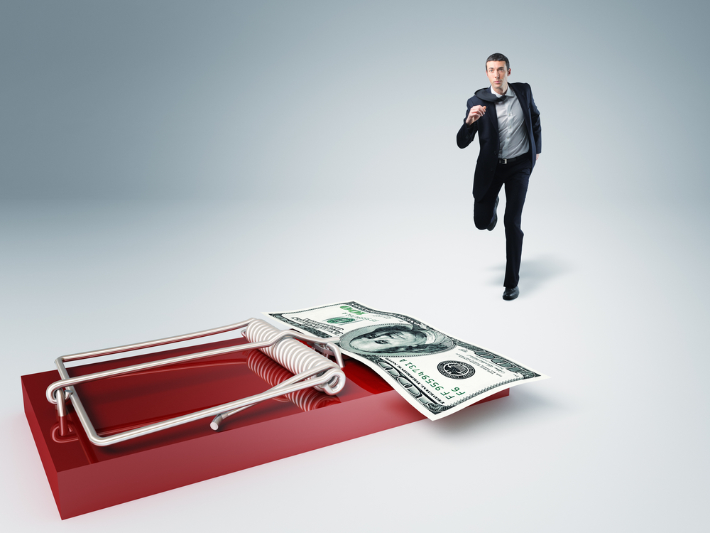 mouse trap showing sales traps