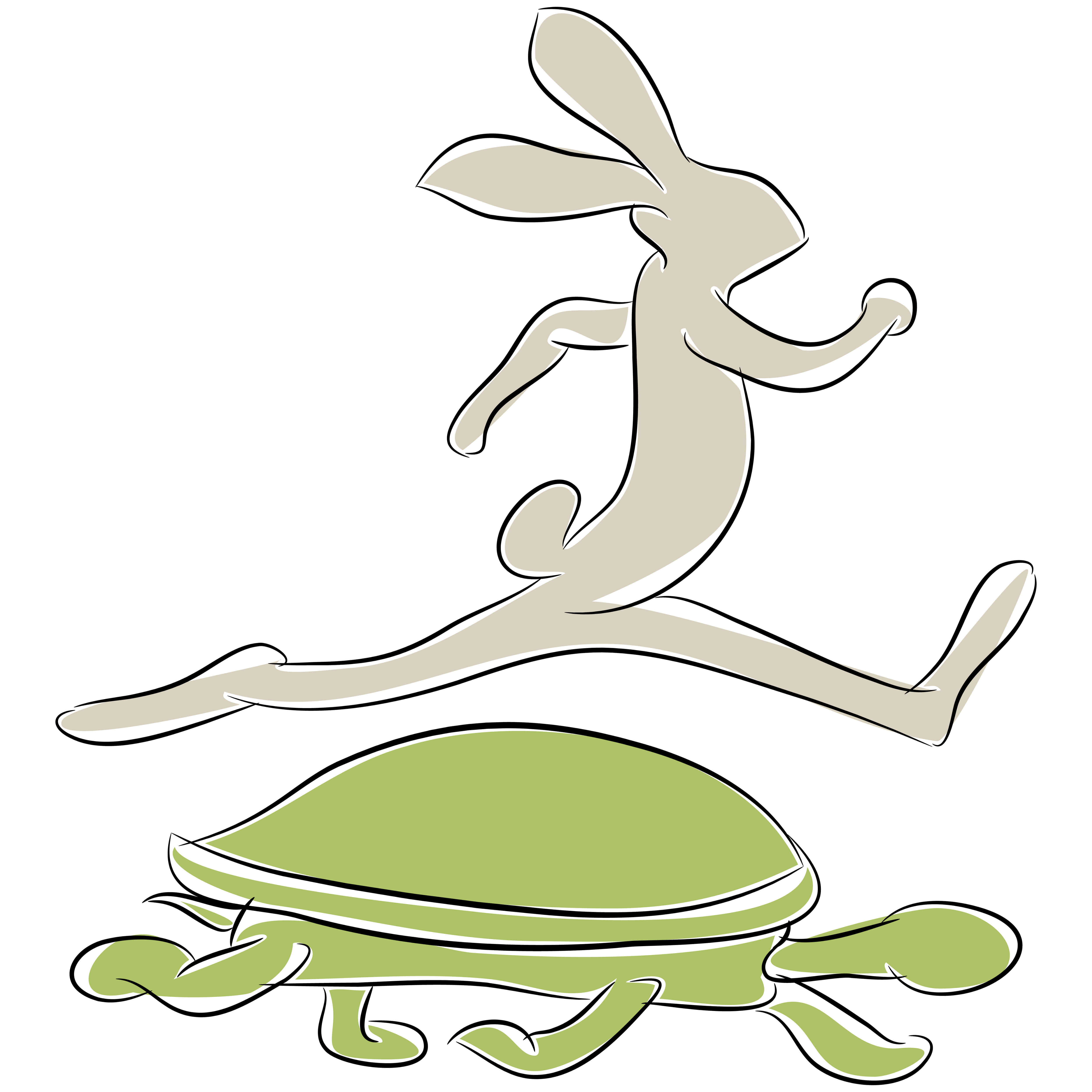 cartoon of the tortoise and the hare